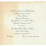 1957 NOAO Dinner Invitation